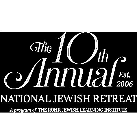 10th Annual National Jewish Retreat